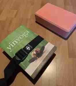 DIY Yoga Book Block on Left
